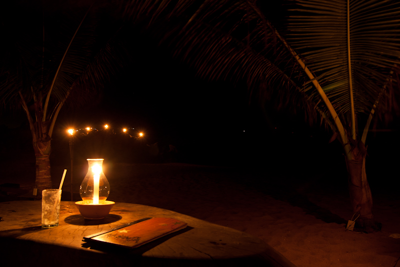 Beach by the Candle light